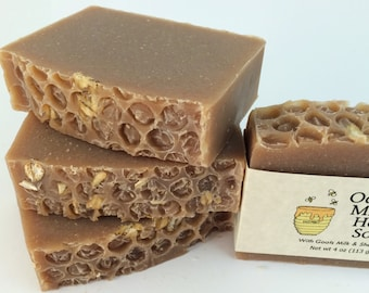 Oatmeal, Milk, and Honey Handmade Natural Soap, Goats Milk Soap, Shea Butter Soap