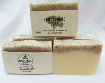 Sandalwood Handmade Soap - great lather, sensual fragrance!