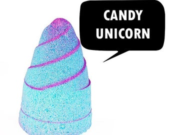Candy Unicorn Foaming Glit Bath Bomb Horn