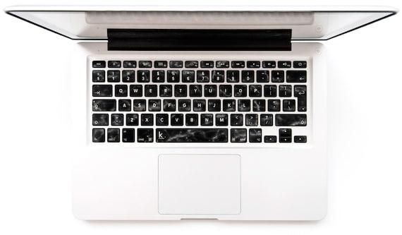 Schwarzer marmor macbook tastatur aufkleber aufkleber etsy