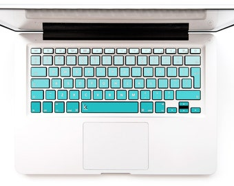 Macbook Decal Keyboard Sticker Macbook Lenovo Asus Sony Dell HP Acer Samsung Toshiba Green Mint Chromebook MSI Gradient #Turquoise Ombre 2