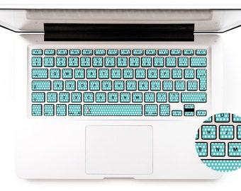 Polka Dot Macbook Decal Keyboard Sticker for Macbook Lenovo Asus Sony Dell HP Acer Samsung Toshiba Green Mint Chromebook # Mint Polka Dot