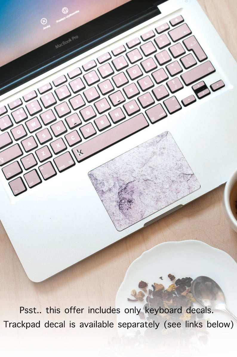 Macbook Keyboard Stickers Pink Decal Keyboard Sticker for Macbook Mac  Stickers Asus Sony Acer Dell HP Toshiba Rose Gold #Tanned pink beige