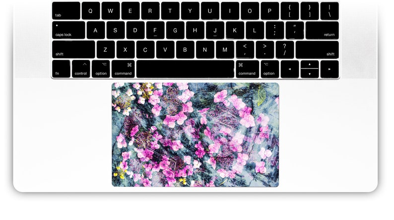 Flower laptop sticker Decal Macbook trackpad touchpad decal sticker custom  size Macbook Pro Retina Macbook Air Trackpad #Frozen Hydrangeas