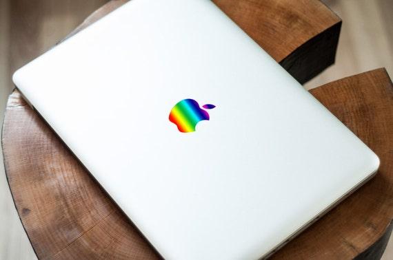 Apple Rainbow Logo Retro Apple Logo Sticker Apple Logo Decal For Macbook Air Macbook Pro Macbook Retina Rainbow