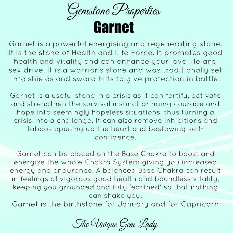 Garnet Jewellery Set Necklace Bracelet And Earrings ~ Gemstone Crystal Healing ~ Gift Boxed Hand Crafted Ooak ~ January Birthstone