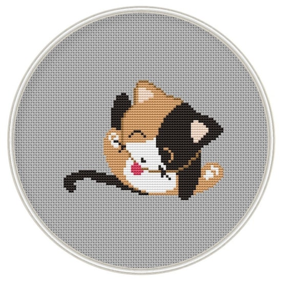 Cute Cat Cross Stitch Pattern Counted Cross Stitch Pattern Etsy New Funny Cross Stitch Patterns Free
