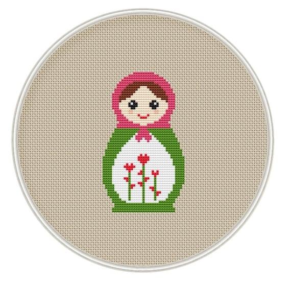 Russian Doll Cross Stitch Pattern Instant Download Free