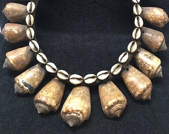 Necklace ~ Vintage Papua Shell  Warrior Neck Ornament,Prestige/Wealth Necklace,New Guinea East Sepik Prestige Collectible