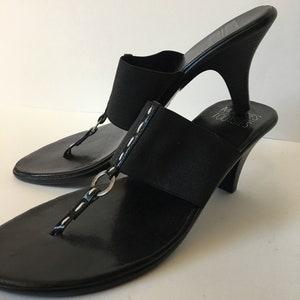 Vintage Sapphire /& Silver Wedge Sandals Rhinestone Diamond Encrusted T-Strap Retro 80s 90s Mootsies Tootsies Blue Criss Cross Shoes Size 8