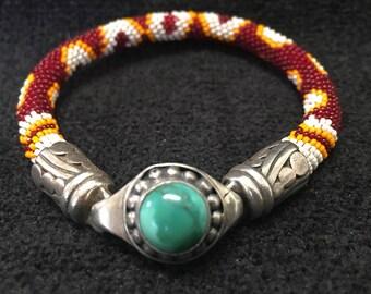 Bracelet ~ Peyote Stich Beadwork Artist: John Binzley