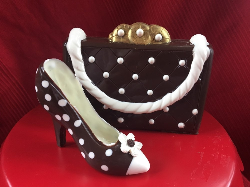 199bc2a6f 3-D CHOCOLATE SHOE and matching PURSE.A girl s 3 favorite things!  Completely edible!