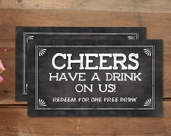 free drink ticket etsy