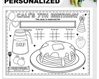 Pancake Coloring Page Etsy
