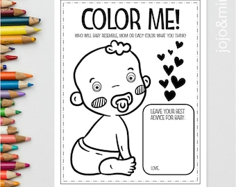 Shower Coloring Page Etsy