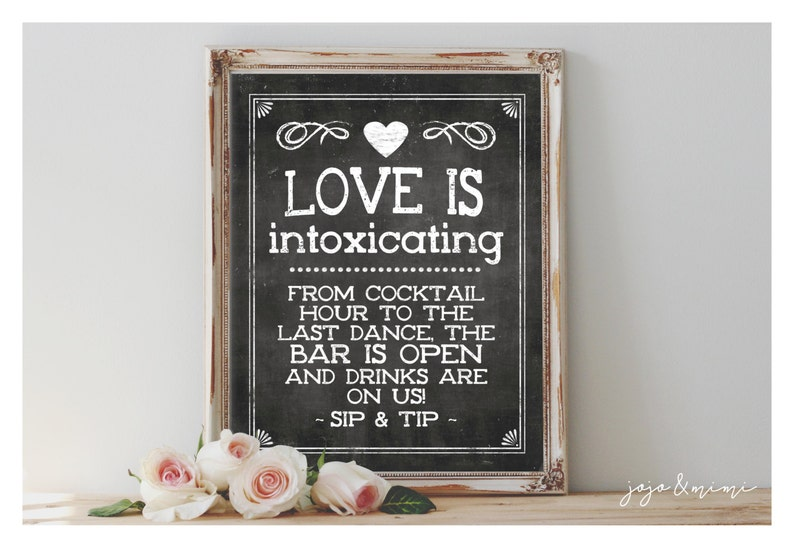 photograph relating to Printable Tip Jar Signs named Quick Appreciate is Intoxicating Beverages are upon us! SIP Suggestion Printable Indicator Idea Jar Chalkboard Wedding day Open up Bar Printable Get together Sizing Features