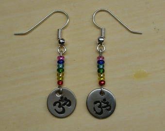 OM symbol Chakra Earrings