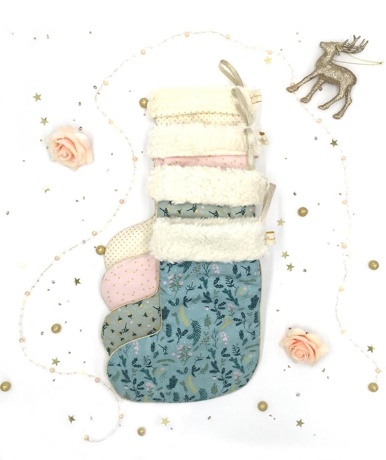 Chaussette botte de Noël personnalisée - Créatrice ETSY : CrapaudChou