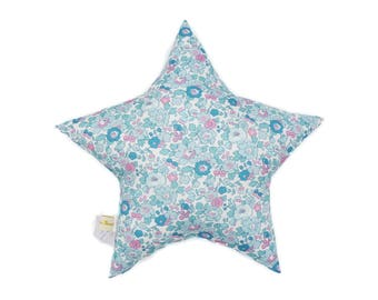 Star cushion in liberty betsy Mint