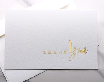 Cosmetologist Thank You Card Gold Foiled Wedding Day Thank you Cards Silver Foil Thank you Card for Hair Stylist WC177-HW-F