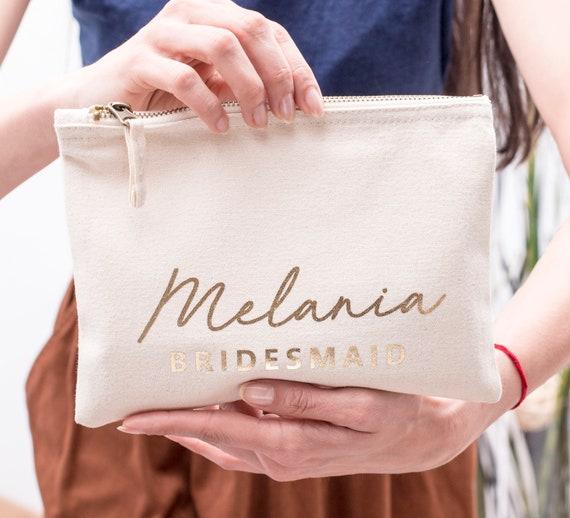 Bridesmaid Makeup Bag Bridesmaid Cosmetic Bag Bridesmaid Etsy