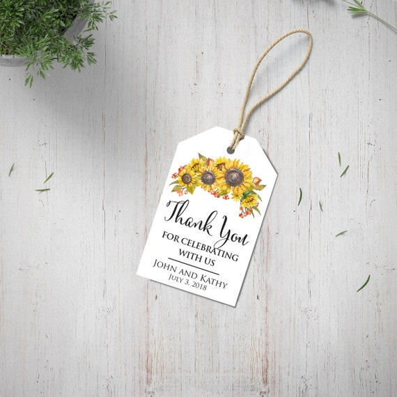 Navy Blue Personalized Thank You Tags Wedding Gift Tags Wedding Favor Tags Personalized Thank You For Celebrating With Us Favors Wedding