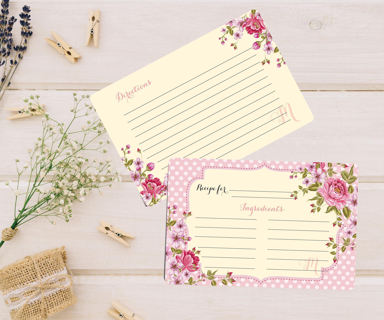It is a photo of Magic Cute Recipe Cards