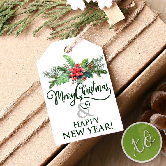 9ef72ba24b5a8 Merry Christmas Gift Tags Happy New Year Favor Tags Christmas Party  Decoration Christmas Favor Tags Happy Holiday Tags Rustic Christmas Tags