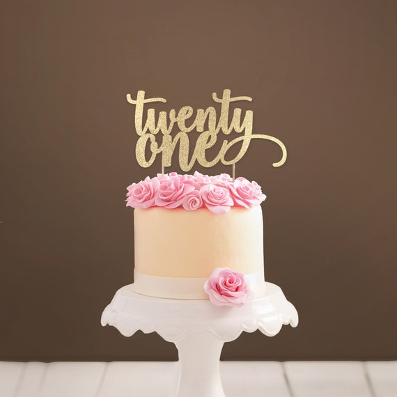 Twenty One Cake Topper 21 21st Birthday