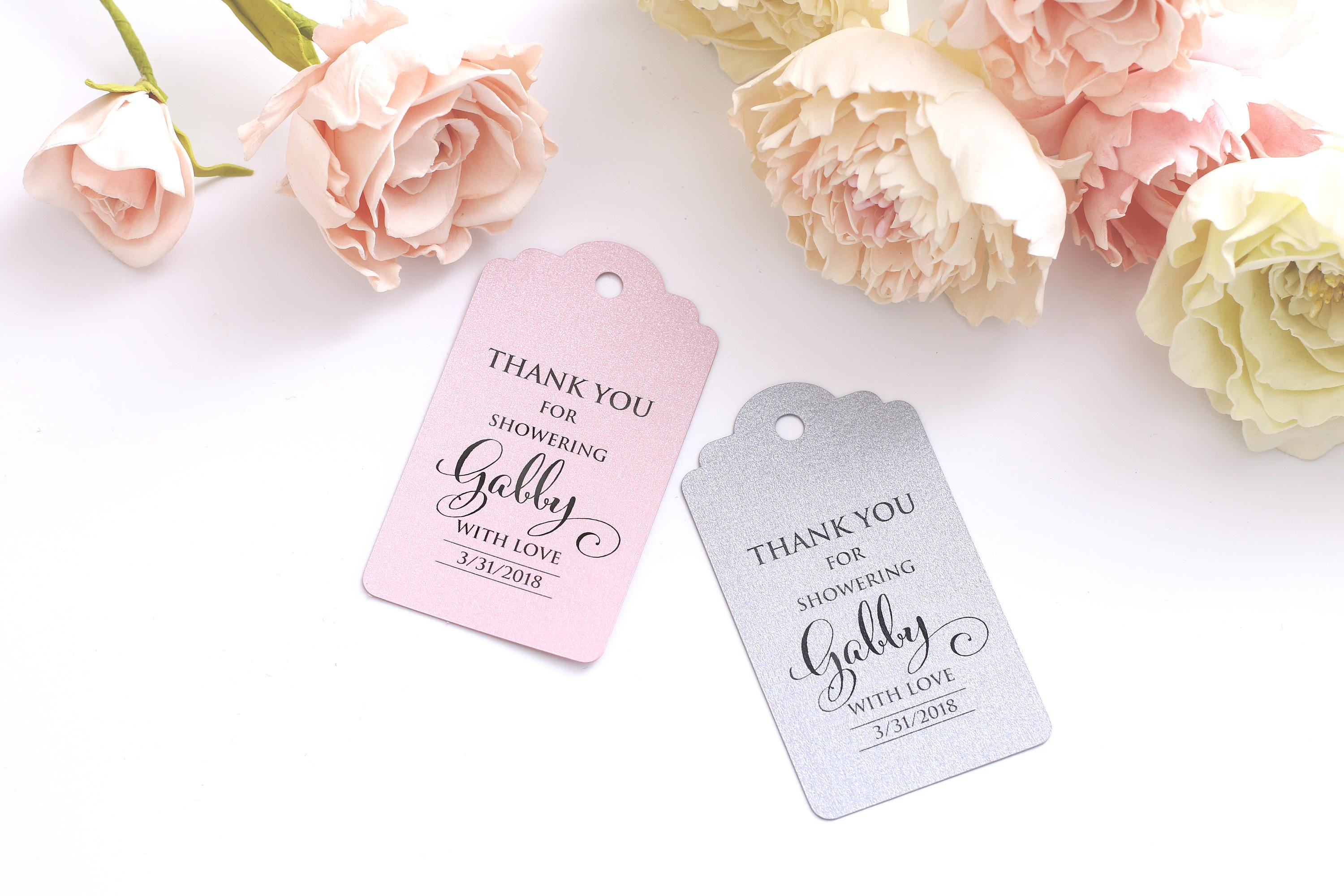 Bridal Shower Favor Tags Personalized Favor Tags Bridal Shower