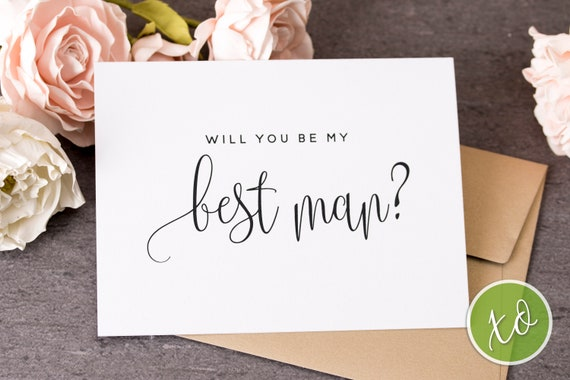 best man card will you be my best man card best man proposal etsy