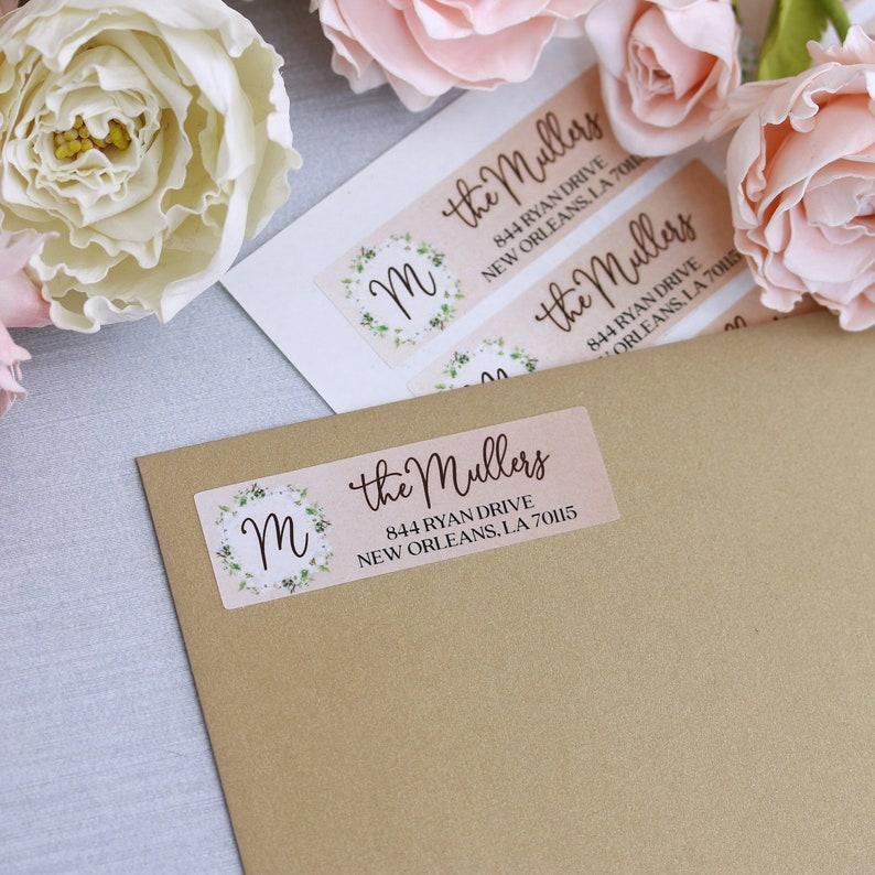 Wedding Address Labels Autumn Colors Personalized Return Address Labels Custom Address Sticker Address Label Sticker Monogrammed Labels