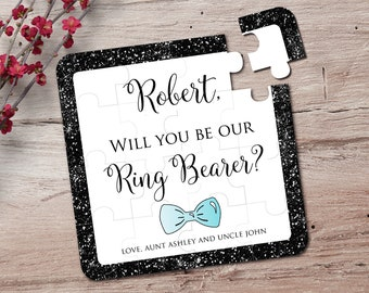 Will You Be Our Ring Bearer Personalized Ring Bearer Puzzle Ring Bearer Puzzle Page Boy Puzzle Junior Groomsman Ring Bearer Proposal