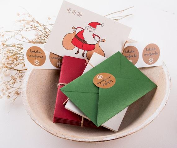 Items Similar To Christmas Cards Set, Funny Christmas