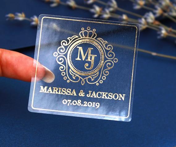 Gloss mariage personnalisés vous remercier mariée et marié autocollants faveur sceaux 440