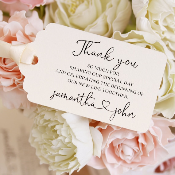 20pk Personalized Gift Wedding Tags Favour Tags Made to Order OHSO733