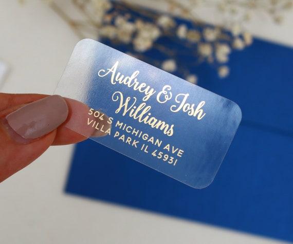 Custom Address Stickers Return Address Labels Personalized Wedding Label Family Label SET OF 30 Transparent Return Address Stickers