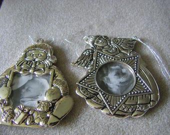 Set of 2 GORHAM photo tree ornaments