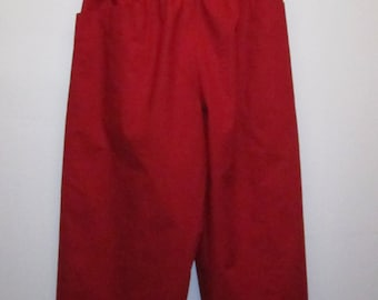 Bright Red Wide Leg Pants