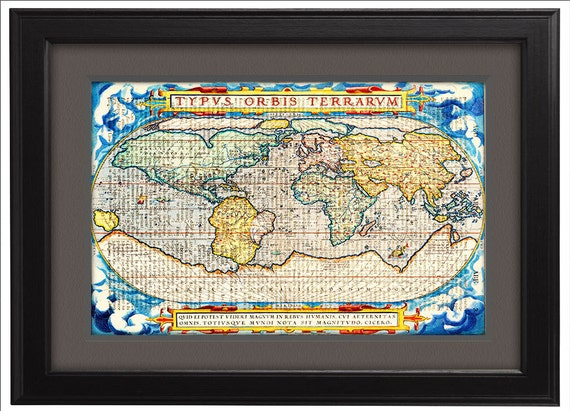 Dictionary Print Art Print Poster Map Map Of The World Etsy