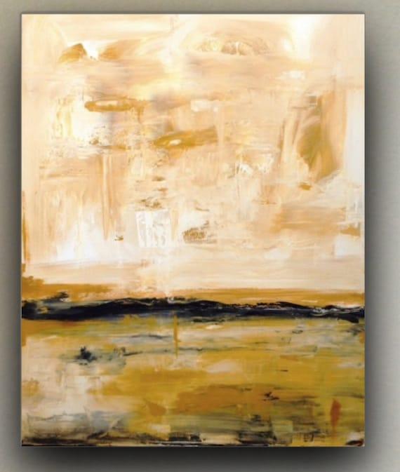 Grande Peinture Abstraite Art De Couleur Neutre Grand Art Etsy