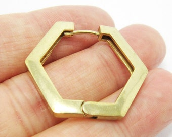 3 Sets of Antique Gold Plated Hook and Eye Clasps 6.5mm I.D.CL9005 Jewelry Findings 44x10mm hooked