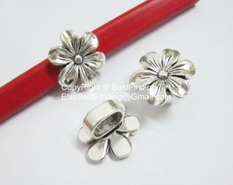 5pcs Hexagonal Flower Licorice Findings 10x6mm Licorice Leather Cord