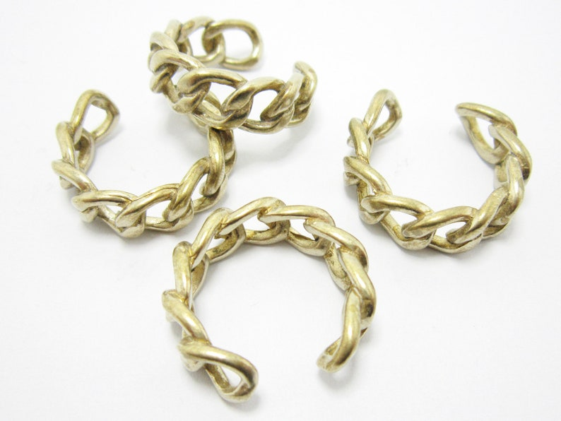 Brass rings for men and women Chain style 25x24x8mm Adjustable Statement Brass finger rings R997