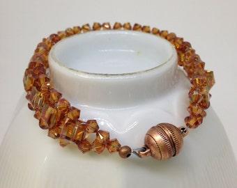 Swarovski Copper crystal bracelet