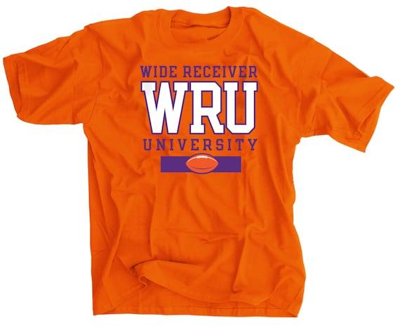 WRU Wide Receiver University Clemson Orange T Shirt