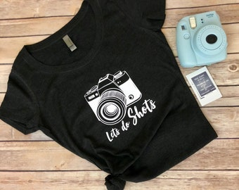 Let's do Shots / Photography / Heather Charcoal Grey / Shirt / Funny / Thank You Gift / Photographer
