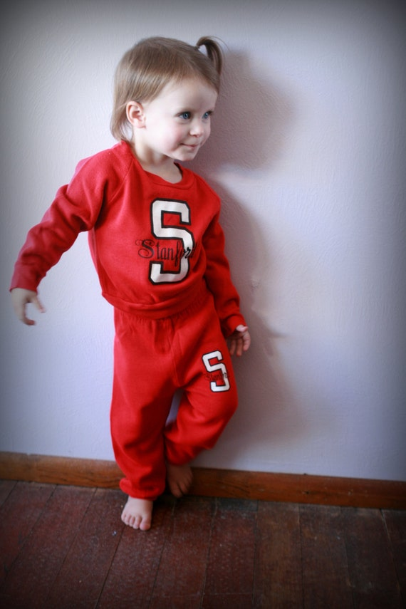 Stanford Vintage track suit/sweats (2t) *Price Red