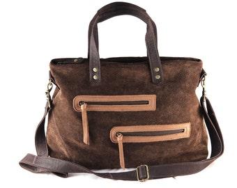 Shoulder or suede carrying case