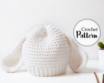 Schema uncinetto cappello con orecchie agnellino || Pasqua || accessori scena foto bambini neonati || taglia 0 12 mesi || cappello bambini